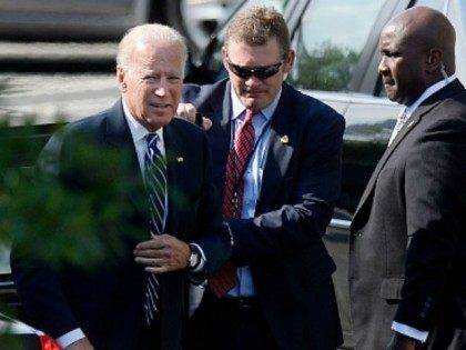 Vice President Joe Biden arrives at the West Executive entrance for the Presidential Daily Briefing with President Obama at the White House on August 26, 2015 in Washington, DC. Biden has not yet announced whether he will enter the 2016 presidential race. (Photo by
