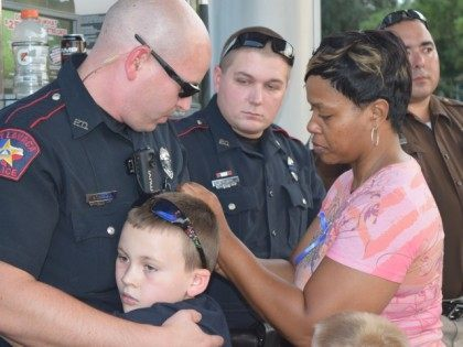 Blue Lives Matter Ribbon on Deputy