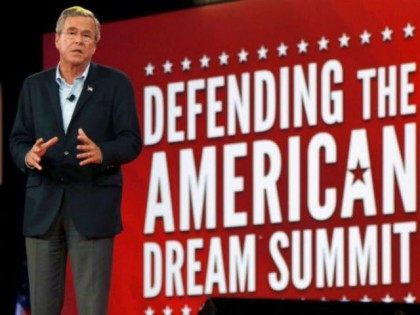 Republican presidential candidate, former Florida Gov. Jeb Bush, speaks at the Defending the American Dream summit hosted by Americans for Prosperity,Friday, Aug. 21, 2015, at the Greater Columbus Convention Center in Columbus, Ohio. Photo: