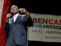 Republican presidential candidate Ben Carson delivers a speech to supporters Tuesday, Aug. 18, 2015, in Phoenix. The state Republican Party says Tuesday evening's rally was moved from a church in Tempe to the convention center because of high demand.