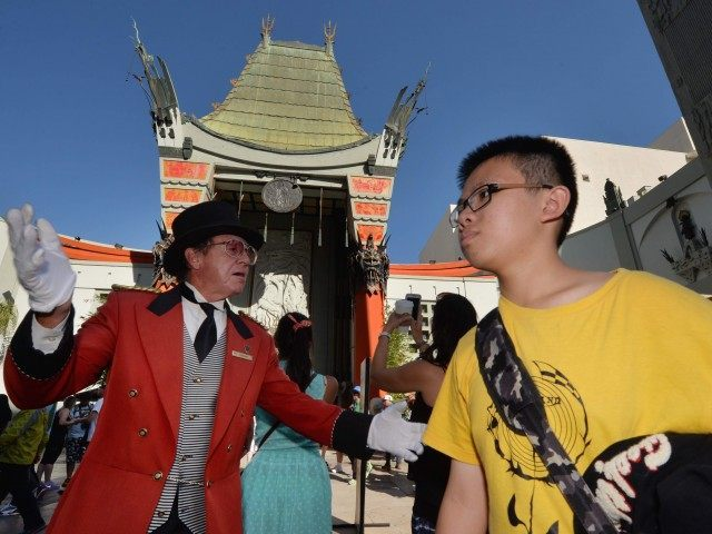 Chinese tourists theater (Mark Ralson / AFP / Getty)