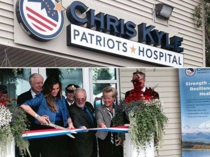 Chris Kyle Hospital Ribbon Cuttng - Sarah Palin FB Page