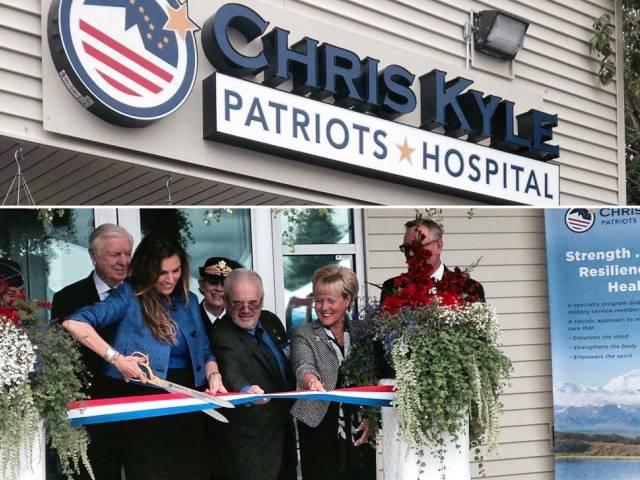 Chris Kyle Hospital Ribbon Cuttng - Sarah Palin FB Page