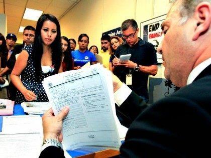 DACA applicants in line