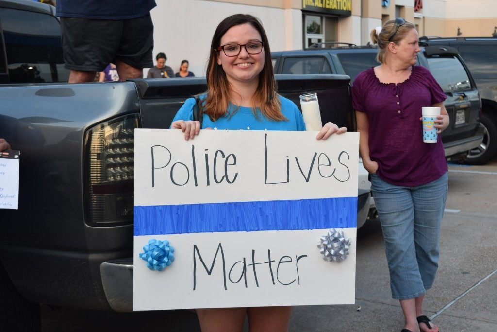 Blue Lives Matter, says one attendee. (Photo: Breitbart Texas/Lana Shadwick)