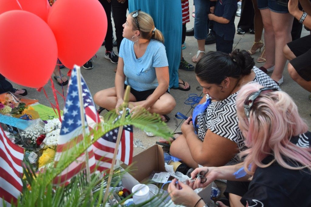 People of all races joined together to share their grief. (Photo: Breitbart Texas/Lana Shadwick)