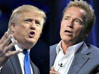 Donald Trump (L) and Arnold Schwarzenegger