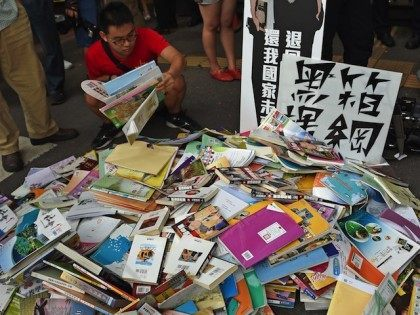 TAIWAN-CHINA-EDUCATION-PROTEST
