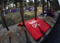 refugee tent camp
