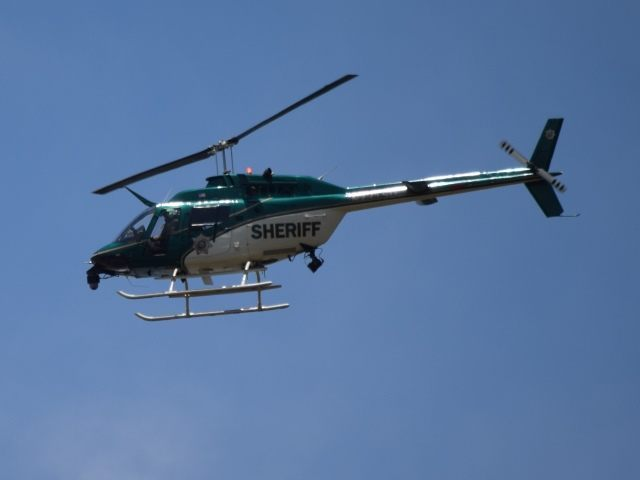 Harris County Sheriff's Helicpoter. (Photo: Breitbart Texas/Bob Price)