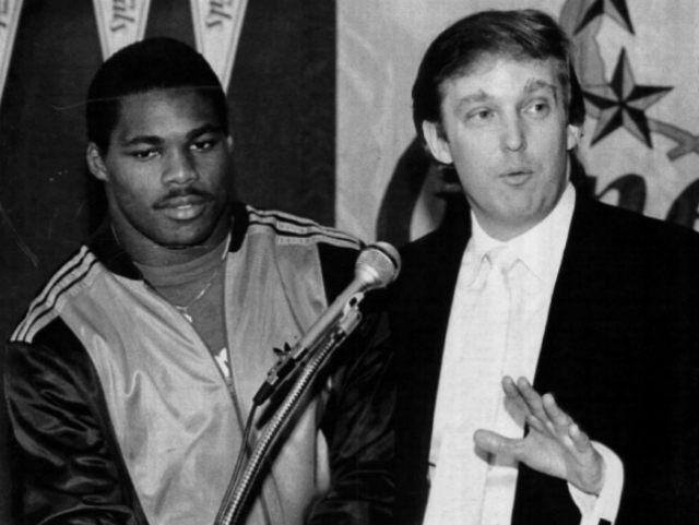Herschel Walker Donald Trump Getty