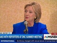 Hillary To FNC Reporter: I Think You're Only 'Entitled To' One Question