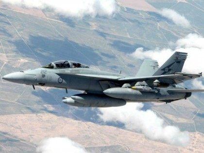 Royal Australian Air Force (RAAF) F/A-18F Super Hornet over Iraq to bomb Islamic State terrorists.