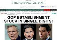 Huffington Post Trolls GOP Estab POTUS Candidates