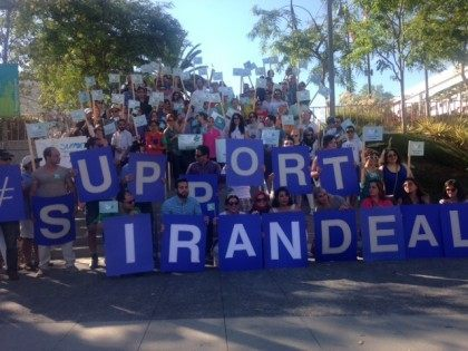 Iran Deal rally L.A. (Adelle Nazarian / Breitbart News)
