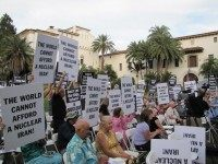Iran rally Santa Barbara (Michelle Moons / Breitbart News)