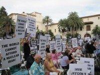 Iran rally Santa Barbara (Michelle Moons / Breitbart News)