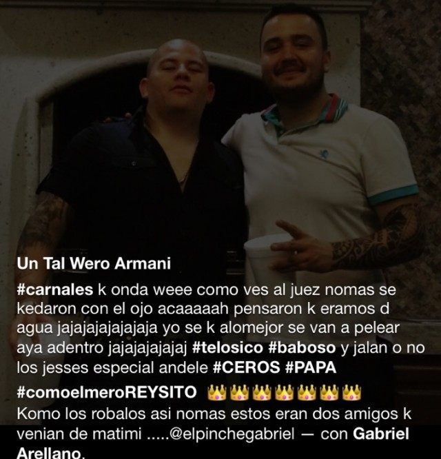 A post by alleged Gulf Cartel Commander Jesus Garcia where he brags about bribing his way out of jail
