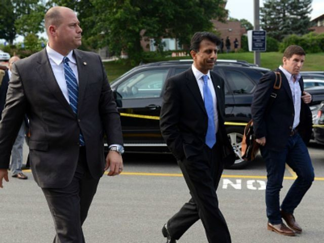 Republican presidential candidate, Louisiana Gov. Bobby Jindal attends the Voters First Presidential Forum at Saint Anselm College August 3, 2015 in Manchester, New Hampshire. The forum was organized by the New Hampshire Union Leader newspaper and C-SPAN in response to the Fox News debate later this week that will limit …