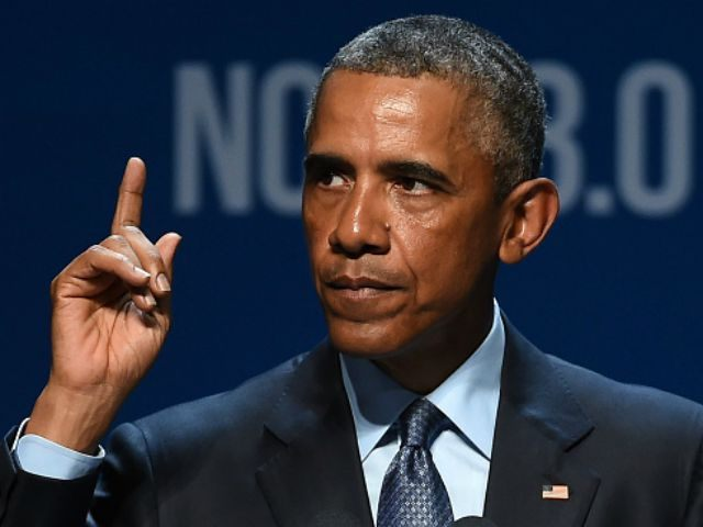 U.S. President Barack Obama delivers the keynote address at the National Clean Energy Summit 8.0 at the Mandalay Bay Convention Center on August 24, 2015 in Las Vegas, Nevada. Political and economic leaders are attending the summit to discuss a domestic policy agenda to advance alternative energy for the country's …