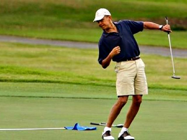 Vacation Days Obama Heads Back To The Golf Course Breitbart