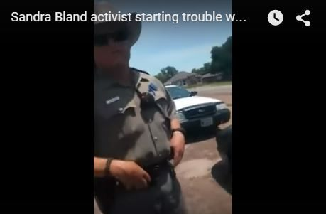 Sandra Bland Activist verbally assaults trooper