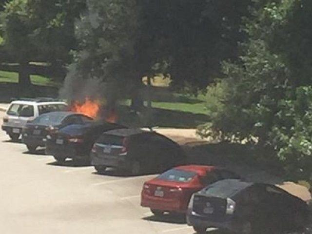 Texas Capitol Car Fire