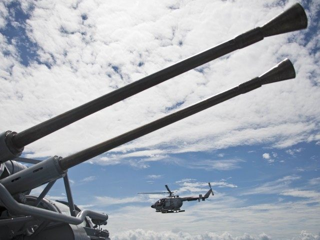Warship helicopter (Luis Robayo / AFP / Getty)