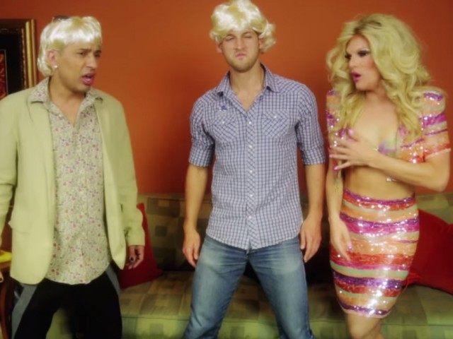 West Hollywood drag queens traffic (Screenshot / Youtube / william belli)