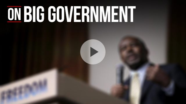 Ben Carson on big government