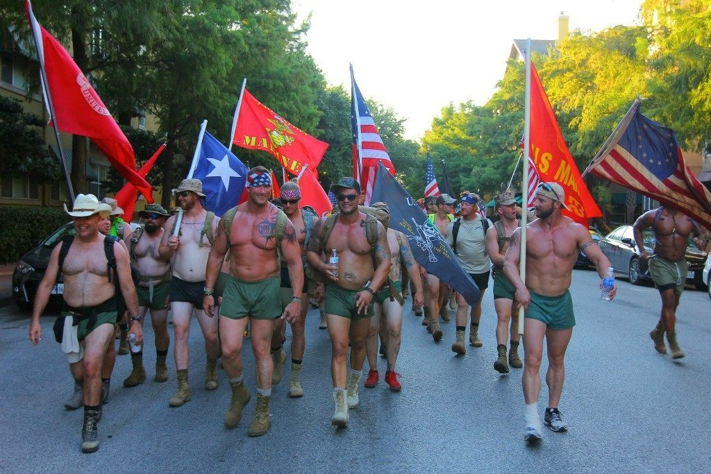Veterans March in Silkies for Comradery and Suicide Awareness