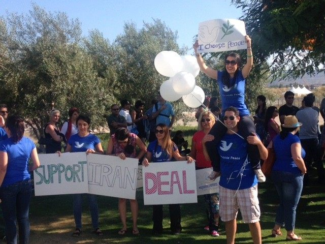 Iran deal peace rally (Adelle Nazarian / Breitbart News)