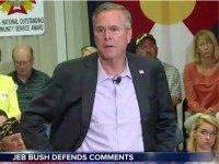 "Republican presidential hopeful Jeb Bush clarified his ""anchor babies"" comments …"