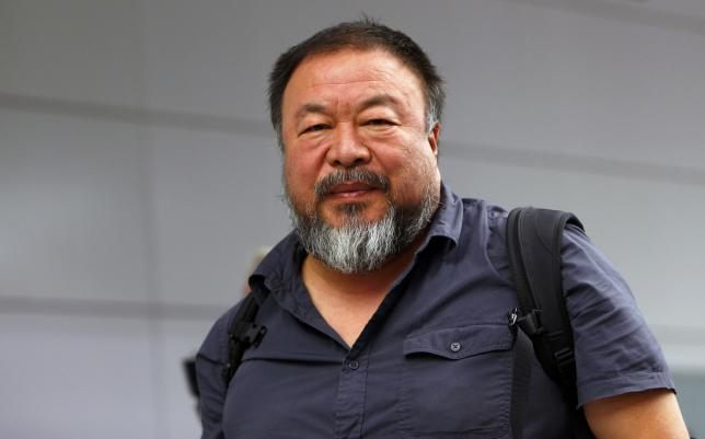 Dissident Chinese artist Ai Weiwei leaves the airport in Munich