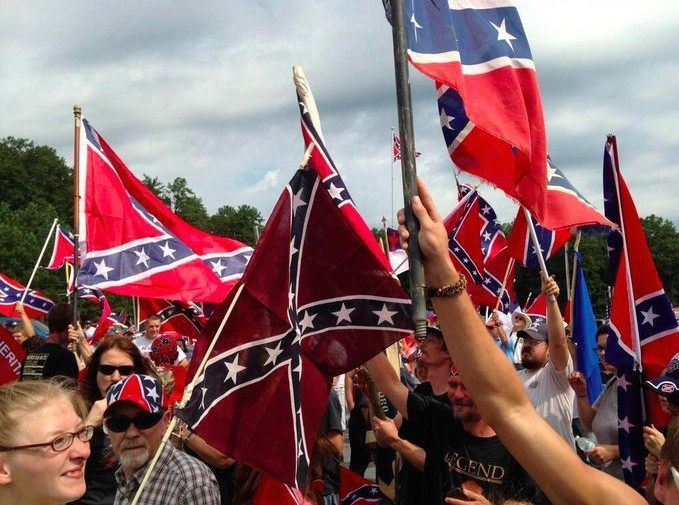 Hundreds Rally to Support Confederate Flag at Stone Mountain Memorial
