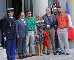Americans, British citizen awarded France's highest honor for foiling train attack