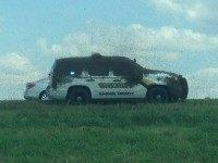 Bees swarm OK law enforcement vehicles