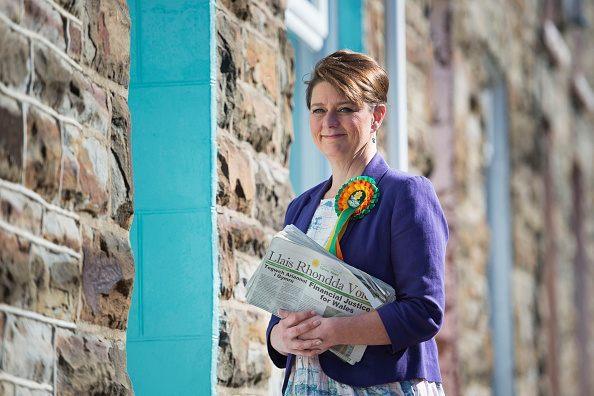 Plaid Cymru Leader Leanne Woods Campaigns In Rhondda