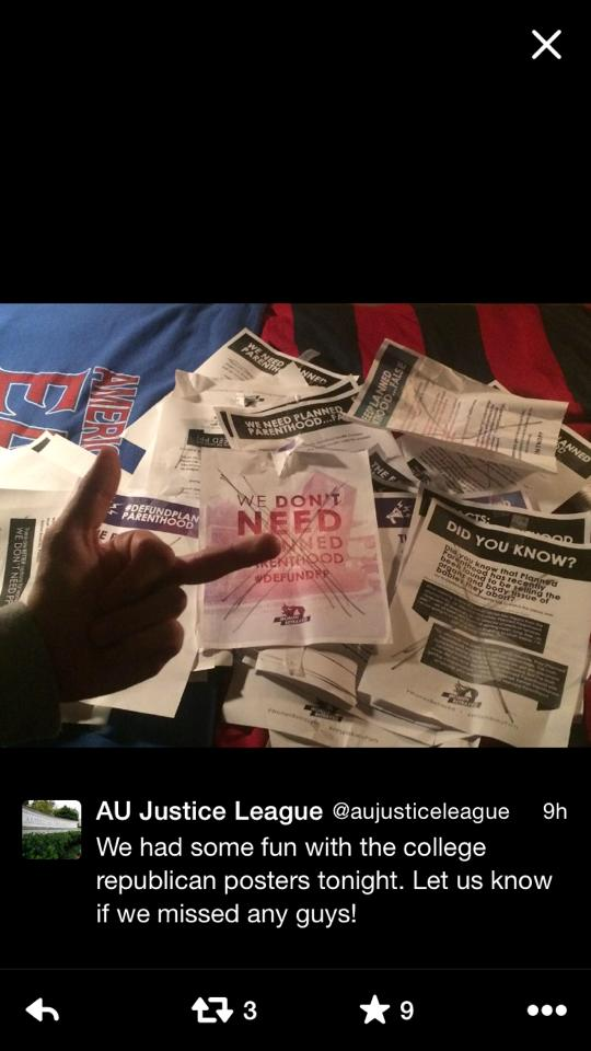 AU Justice League - Ripping Down Fliers