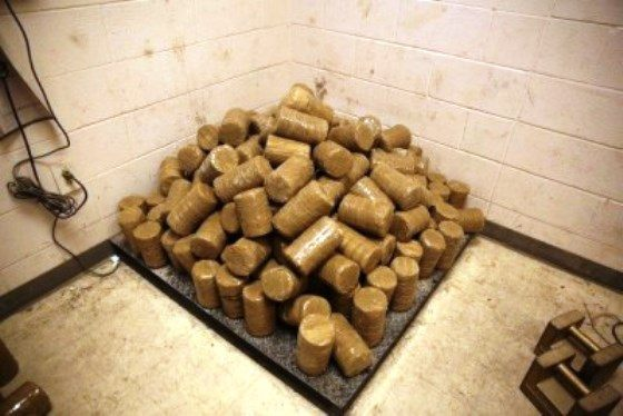 Drugs extracted from fence posts. (Photo: U.S. Border Patrol)