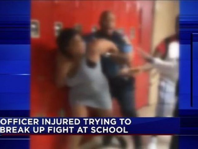 Bellaire HS Fight with Cop