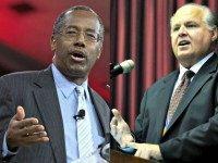 Ben Carson and Rush Limbaugh AP