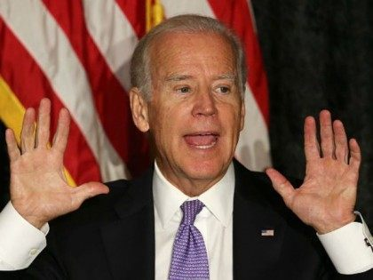 Vice President Joe Biden speaks as he meets with Jewish community leaders at the David Posnack Jewish Community Center to discuss the nuclear deal reached with Iran on September 3, 2015 in Davie, Florida. President Barack Obama on Wednesday secured enough votes to put the agreement in place. (Photo by
