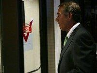 U.S. Speaker of the House Rep. John Boehner (R-OH) leaves after a media availability at the Republican National Committee September 17, 2015 on Capitol Hill in Washington, DC. House Republicans held a conference meeting to discuss Republican agenda prior to the media availability.