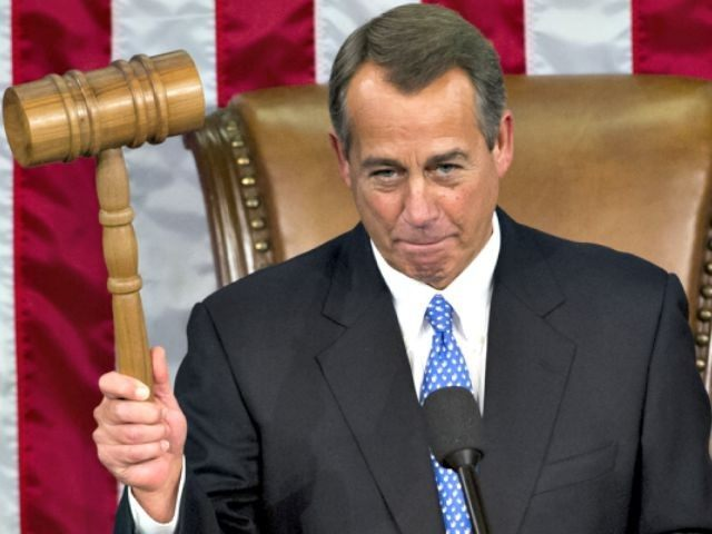 Boehner with gavel AP