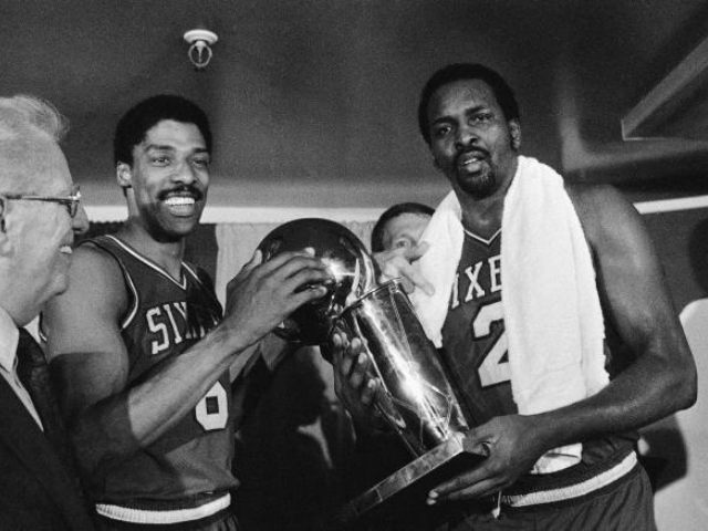 Dr. J and Moses Malone AP