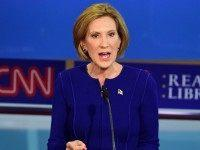 Republican presidential hopeful Carly Fiorina speaks during the Republican presidential debate at the Ronald Reagan Presidential Library in Simi Valley, California on September 16, 2015. Republican presidential frontrunner Donald Trump stepped into a campaign hornet's nest as his rivals collectively turned their sights on the billionaire in the party's second …