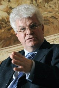 Permanent Representative of the Russian Federation to the European Union, Ambassador Vladimir Chizhov, answers journalists' questions on the eve of an EU - RUSSIA meeting, on February 3, 2009, in Brussels.