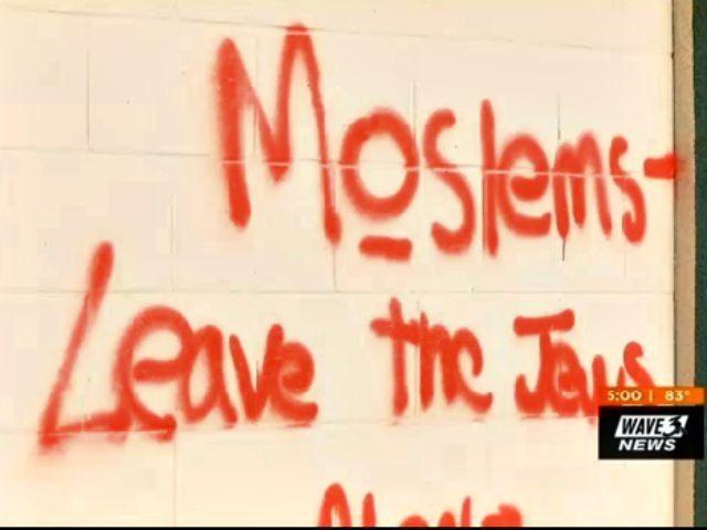 Graffiti on Mosque Wave 3 News