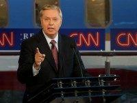 Republican presidential candidate, U.S. Senator Lindsey Graham (R-SC) speaks during the presidential debates at the Reagan Library on September 16, 2015 in Simi Valley, California. Fifteen Republican presidential candidates are participating in the second set of Republican presidential debates. (Photo by